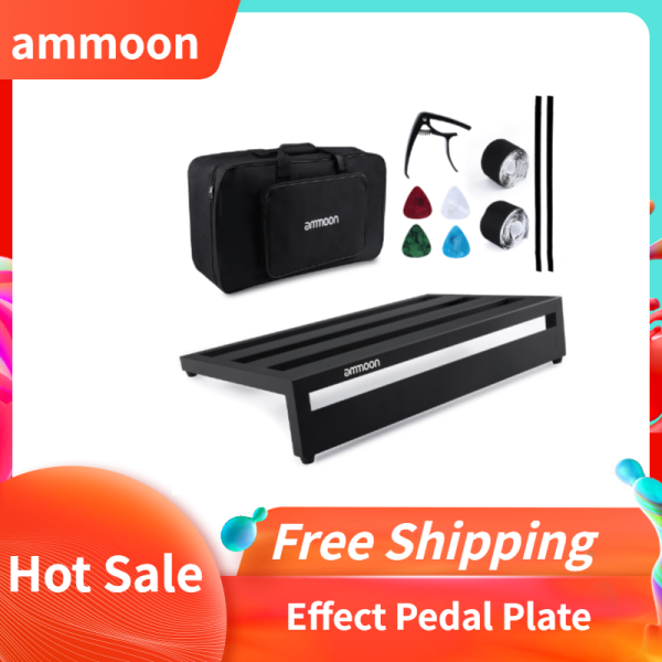 ammoon Large Guitar Effect Pedal Board Pedalboard Aluminum Alloy with Carry Bag Capo 4pcs Picks Fixing Tapes Malaysia