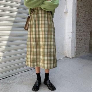 Váy Kẻ Sọc Mỏng, Quần Áo Nữ Ngoại Cỡ, Phong Cách Mới, Tất Cả Các Trận Đấu, Eo Co Giãn, Cô Gái Béo, Váy Cạp Cao thumbnail