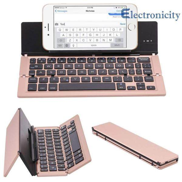 Triple Folding Wireless Bluetooth Keyboard for iOS/Android Phone/Tablet PC Singapore