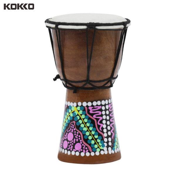 KOKKO Trống Châu Phi 4 inch Djembe Professional Nhạc cụ Gỗ Bongo