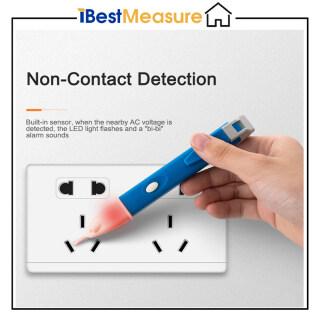 Bút thử điện kiểm tra điện áp không tiếp xúc có màn hình LCD còi đèn led cảm ứng an toàn phạm vi kép 90V-1000V 1AC-D (xanh dương vàng) IBestMeasure - INTL thumbnail
