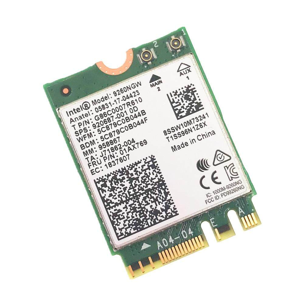 Wireless Intel ac 9260 NGFF WiFi Network Card 1730Mbps 2.4Ghz//5Ghz Bluetooth 5.0