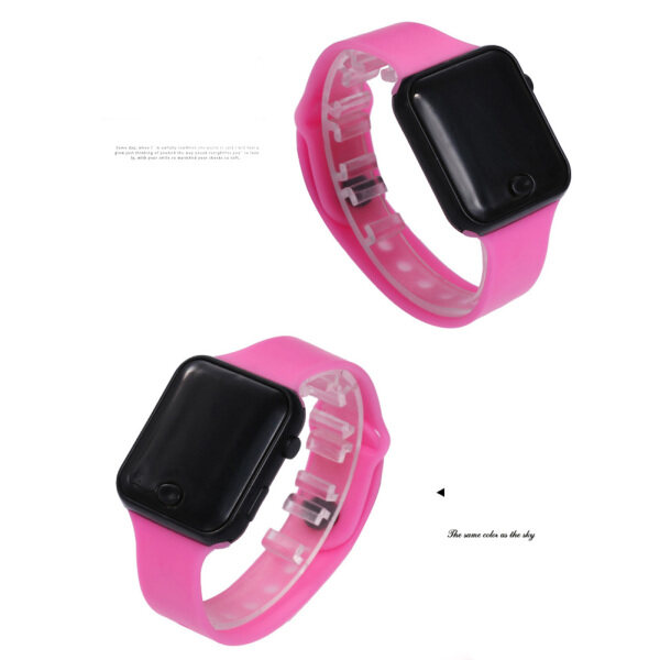 Digital Bracelet Watch Soft Silicone Band Wrist Bracelet for Kids with Night Light Malaysia