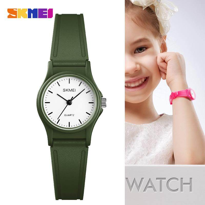 【Buy 1 Free 2 Gift】SKMEI 1401 Outdoor Sport Kids Watches Simple Dress for Girls Children Watch 50M Waterproof PU Strap Quartz Boy Wristwatch Malaysia