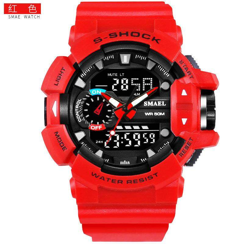 SMAEL Smyr 1436 double display fashion sports waterproof double display men's watch multi-function LED electronic watch