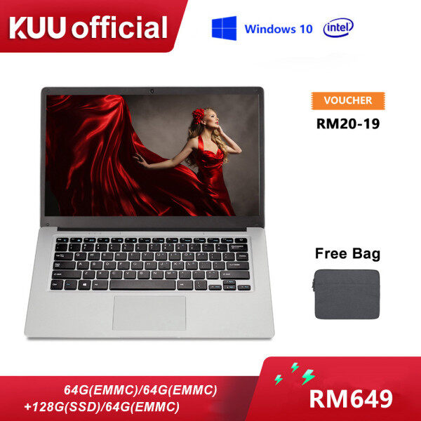 [MID YEAR SALE] feed me Brand New[1 Year Warranty][Free Bag]14 Inch Screen Intel Celeron N3350 6G/8G RAM 64EMMC ROM /128/256G SSD ROM Windows 10 1.04~2.4GHz 0.3MP Narrow Bezel Keyboard Ultrabook Traditional/Gaming Laptop Malaysia
