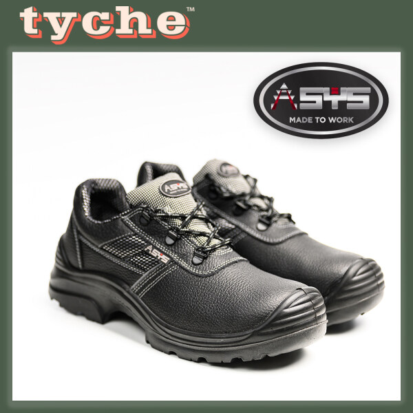ASYS BLACK LOW CUT LACE-UP SAFETY SHOE C/W STEEL TOE CAP & STEEL PLATE-MODEL SAMURAI