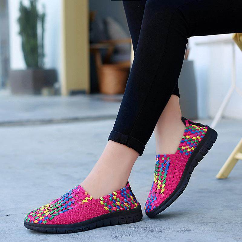 dbccf475281 DOSREAL 2019 New Spring Summer Casual Shoes For Woman Flat Soft Bottom  Sneakers Breathable Walking Shoes