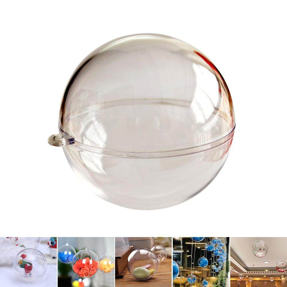 8/10/12cm Clear Hanging Glass Baubles Fillable Christmas Wedding Ornaments Balls Celebration & Occasion Supplies Home, Furniture & DIY