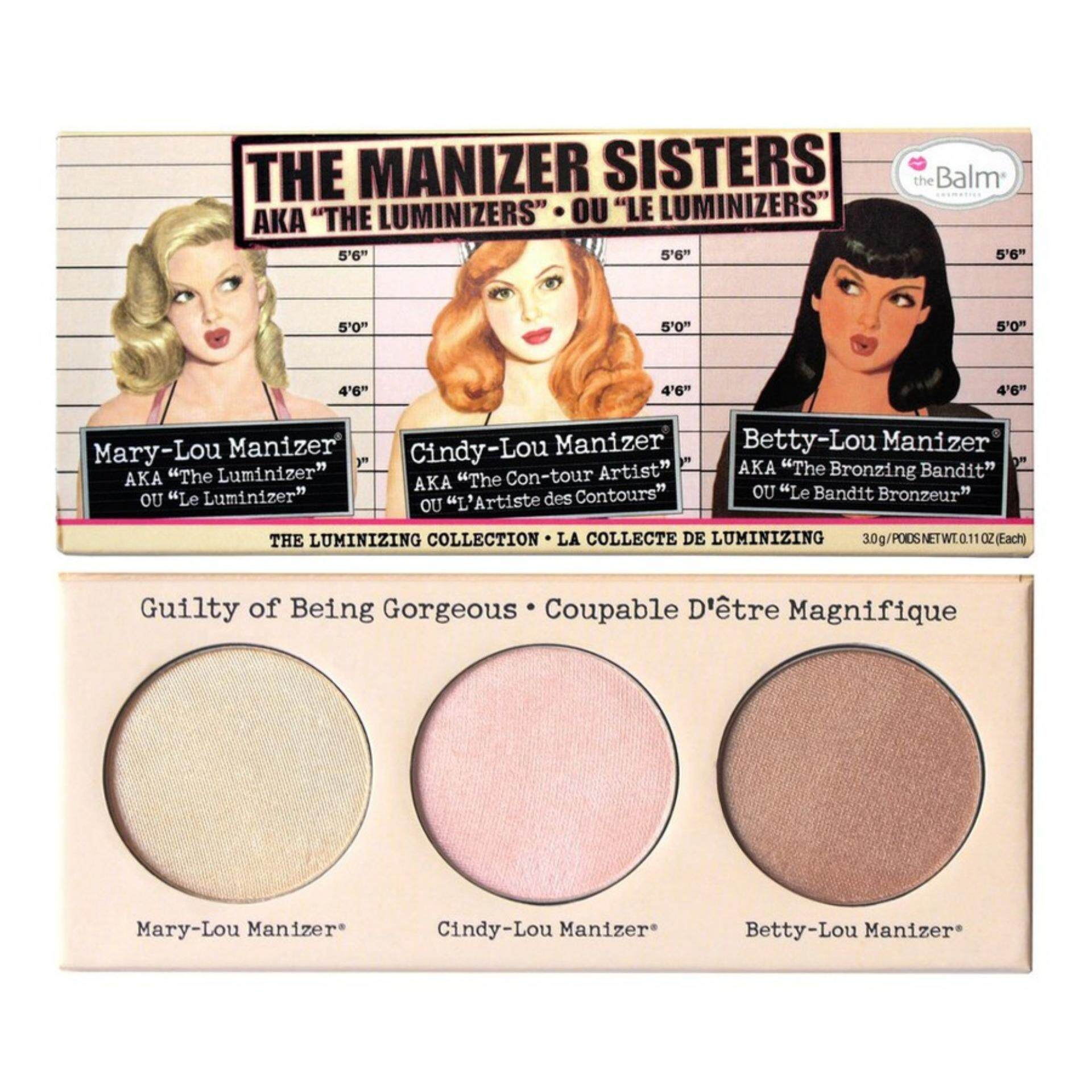 1 set X [MUST HAVE] The Balm The Manizer Sisters (Betty Lou Manizer, Cindy Lou Manizer, Mary Lou Manizer)