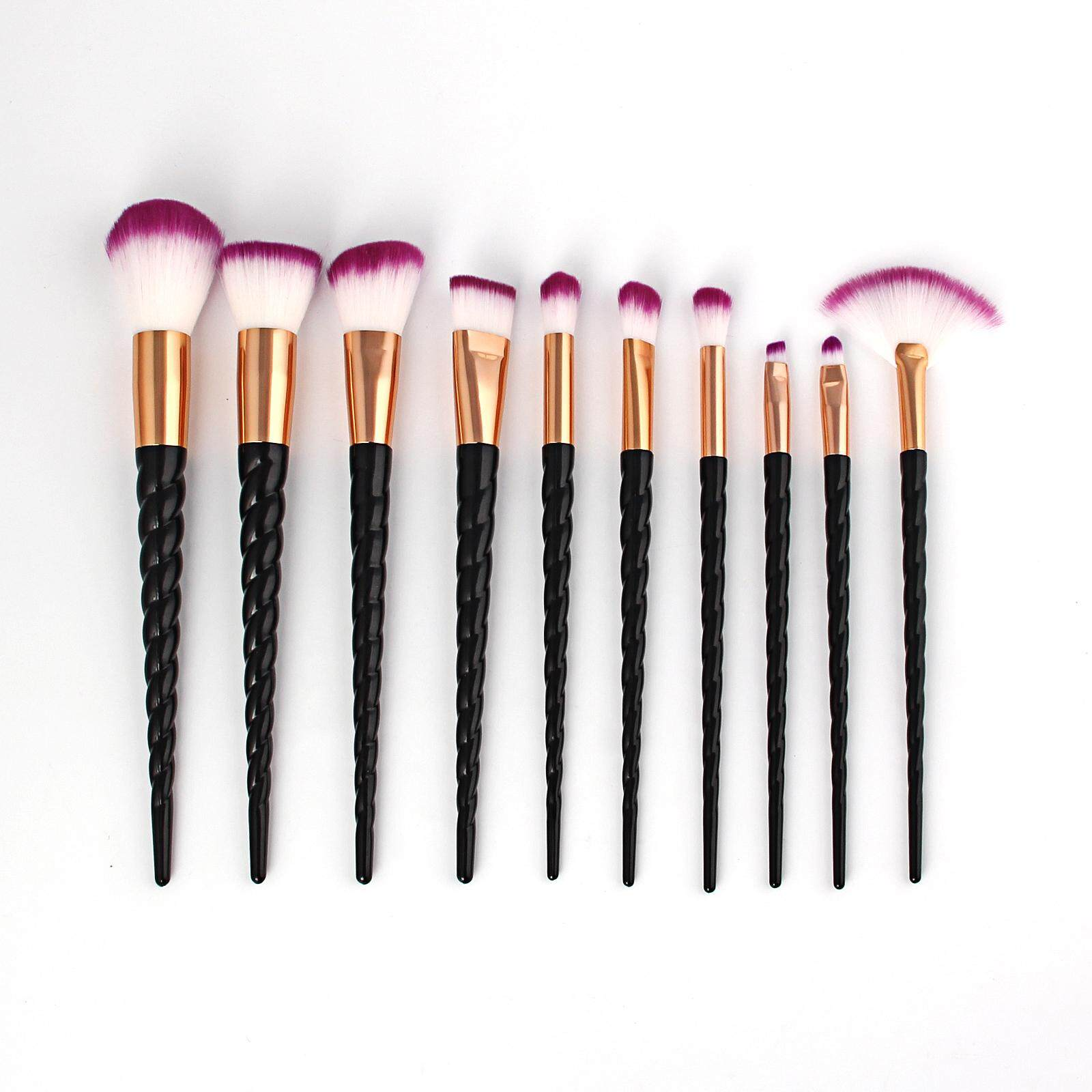 Features 10pcs Mermaid Style Pro Makeup Cosmetic Brushes Set Source · BM 10pcs black Unicorned Makeup Brushes Set Contour Powder Brush Cosmetic Tool