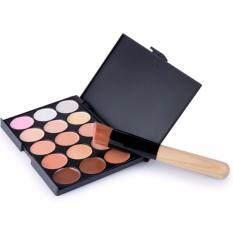 15 Colors Makeup Concealer Palette + A Makeup Brush Contour Face Cream 2in1