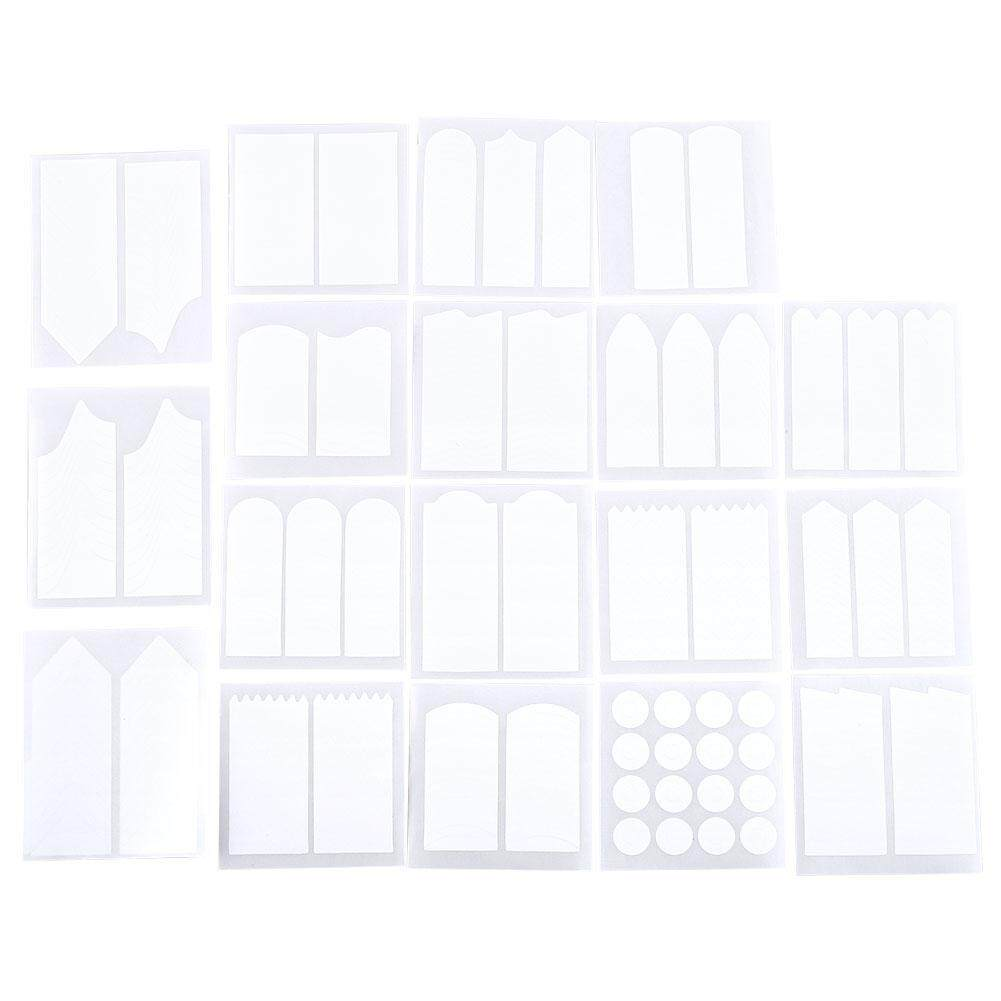 18 Sheets French Nail Art Tips Tape Guide Stencil Manicure Form Stickers DIY