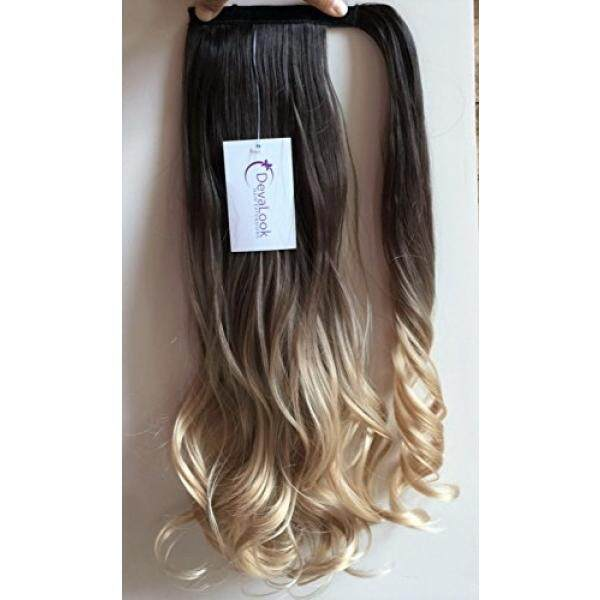 20 Synthetic Wavy Curly Ombre Wrap Around Ponytail Clip in Hair Extensions Hairpieces - intl