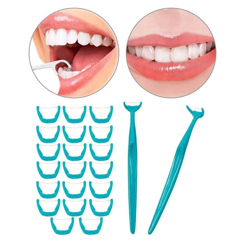 Buy Sell Cheapest Benang Picks Best Quality Product Deals Charmi Dental Flosser 2017 Interdental Brush Teeth Stick Gigi Floss Tusuk Pick Sekali Pakai Dengan