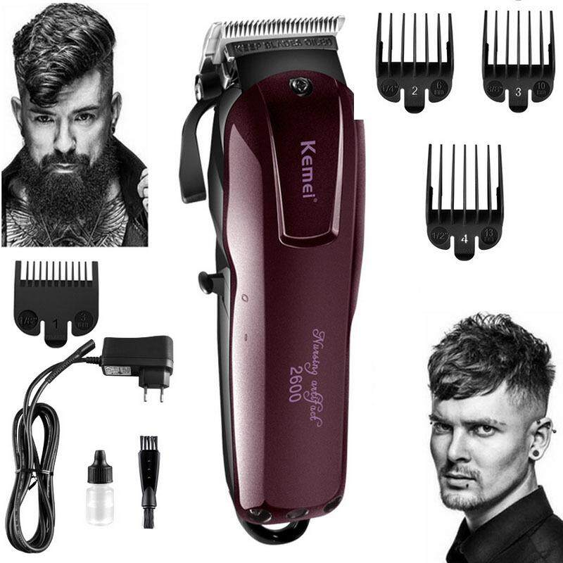 Cheapest 2018 Fashion Electric Washable Hair Clipper Rechargeable Professional Hair Trimmer Shaver Razor Cordless Adjustable Clipper Intl Online