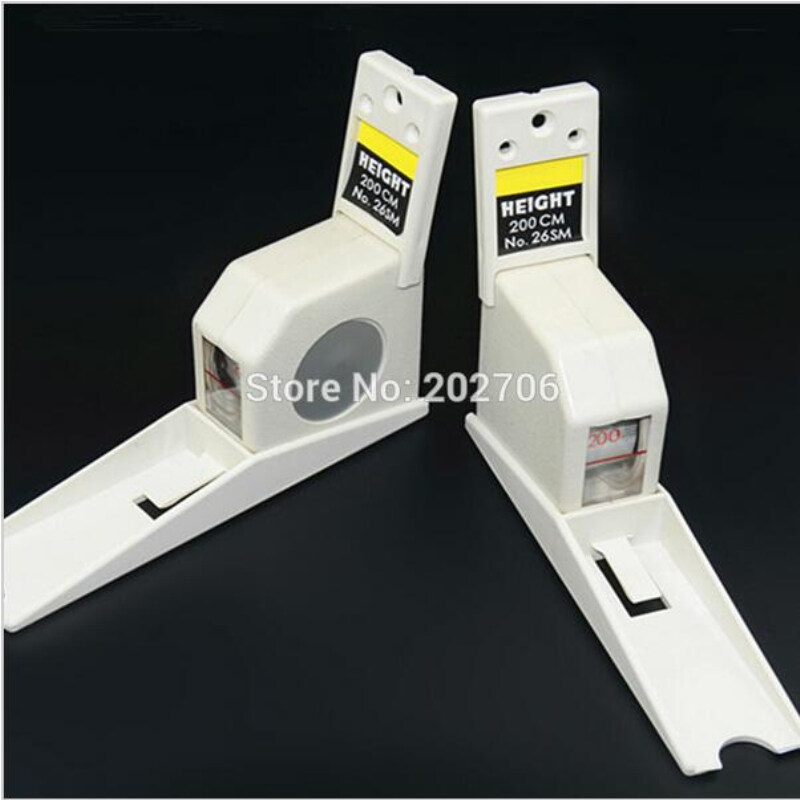 220cm White Color Wall Mounted Height Rod Meter Stadiometers Growth Ruler White Height Rod