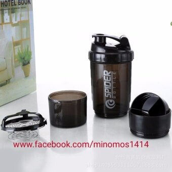 3 in 1 Supplement protein milk shaker bottle BSN DYMATIZE JYM MUSCLETECH CELLUCOR OPTIMUM NUTRITION ON ( BLACK )