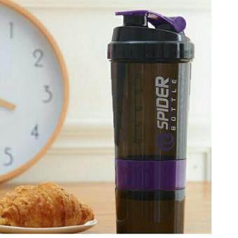 3 in 1 Supplement protein milk shaker bottle BSN DYMATIZE JYM MUSCLETECH CELLUCOR OPTIMUM NUTRITION ON ( PURPLE )