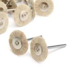 30pcs Dental Laboratory Miniature Soft White Goat Hair Polishing Wheel Brushes