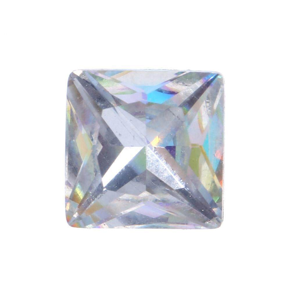 3D Transparan Multicolor AB Berlian Imitasi Nail Seni DIY Alat Kecantikan Dekorasi (Putih)-