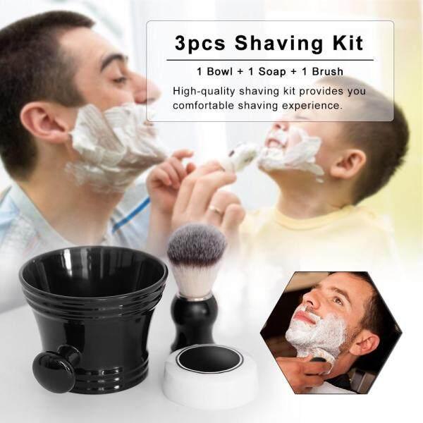 3pcs Traditional Beard Shaving Tools Set Wet Shaving Kit Shaving Brush Mug Bowl Soap Home Barbers giá rẻ