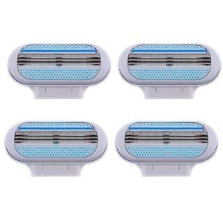 4pcs Women Hair Shaved Razor Blade Refills Replacement Cartridge for Gillette Venus thumbnail