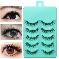 5 Pairs 3D Natural Soft Eye Lashes Makeup Handmade Thick Fake False Eyelashes Philippines