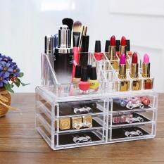 6 Drawer 3 Tier Layers Clear Acrylic Cosmetic Rack Organizer Jewelry Make  Up Case