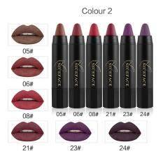 6Pcs Long-lasting Velvet Matte Color Pencil Lipstick Crayon Sexy  Makeup Set B