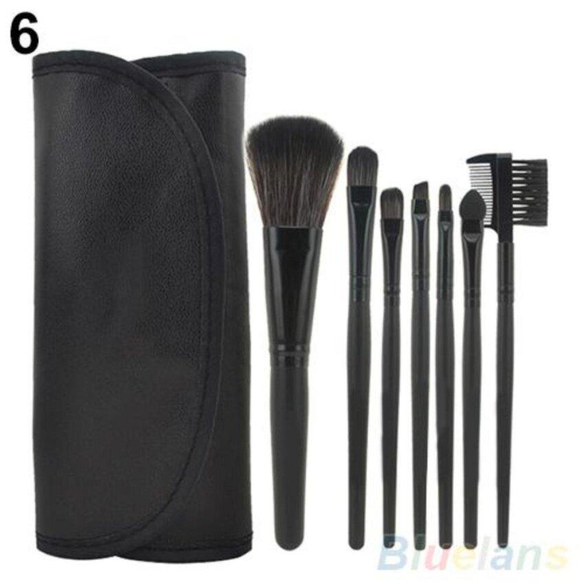 ZT Sky 7 Pcs/set Kosmetik Alat Makeup Bedak Pembuat Merah Alis Bulu Mata Concealerlip Kit Sikat Set + Sikat Indah (Elf Hitam) -Intl