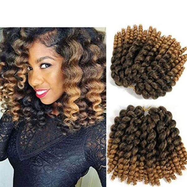 8 inch Wand Curl Braids Hair 20 Roots 3 packs JAMAICAN BOUNCE Synthetic Braiding Hair Crochet Braids Hair - intl