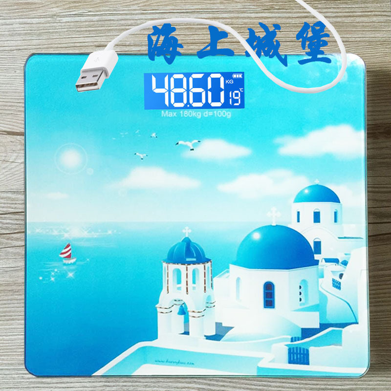 Accurate home adult children rechargeable battery scales electronic scales body weight scales (Sea Castle [new models])