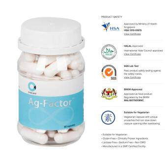 Ag-Factor™ 1-Month Anti-Aging Supplement (60 Capsules) Quality Product by Onecare Wellness