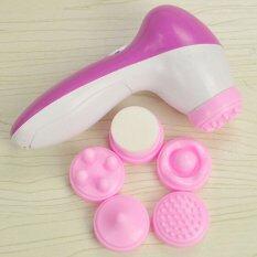 Dalam bersih 5 in 1 listrik wajah pembersih kulit perawatan sikat Massager Scrubber