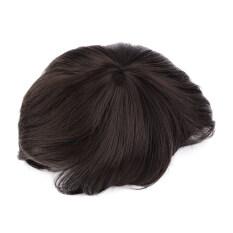 Allwin untuk pria tampan Korea pendek rambut lurus penuh pesta Cosplay wig 3 warna  coklat gelap