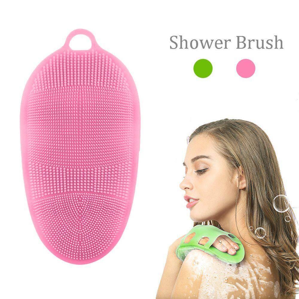 Aolvo Soft Silicone Body Brush Body Wash Bath Shower Glove Exfoliating Skin Spa Massage Scrubber Cleanser 100% Pure Silicon Materia Body Brush Shower Brush - Intl By Aolvo.
