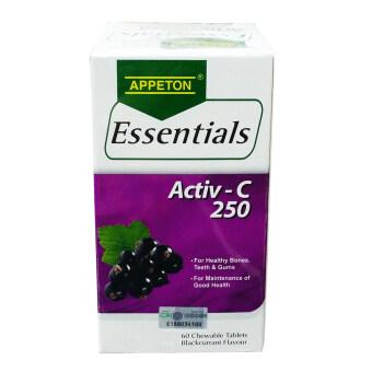 APPETON Essentials Activ-C 250mg Blackcurrant 60 tablets