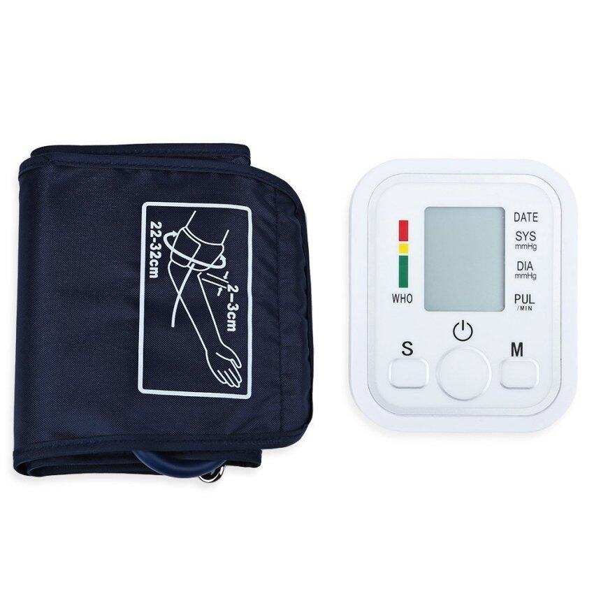 Automatic Arm Blood Pressure Pulse Monitor Health Care Digital Upper Portable Sphygmomanometer with Voice (Intl