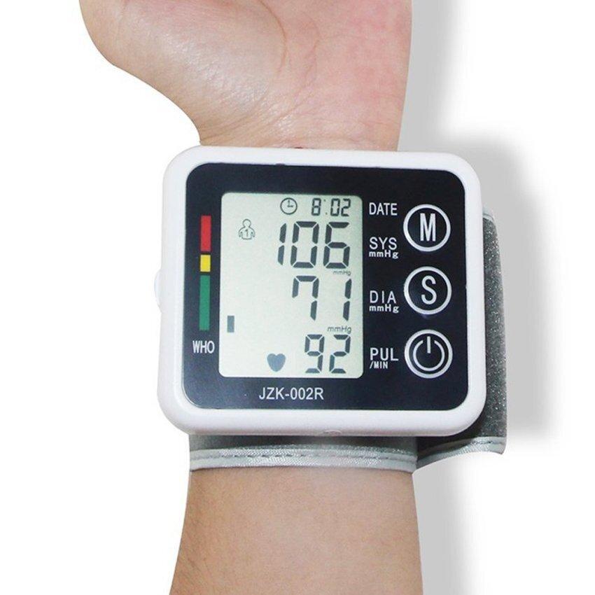 Pejke Automatic Wrist Digital&Blood⪻essure Monitor Pulse RateMeter Home LCD Display Sphygmomanometer (White)