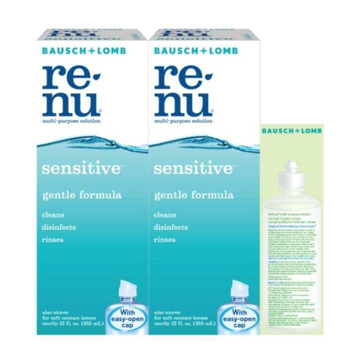 **Bausch + Lomb Renu Sensitive Multi-Purpose Solution 355mlx2
