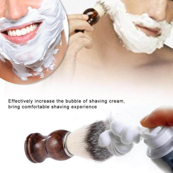 Beard Shaving Brush Shaving Dusting Tool Men Wooden Handle Nylon Hair Shaving Razor Cleaning Tool Facial Beard Cleaning Shave Tool giá rẻ