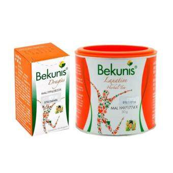 Bekunis Laxative for Constipation Relief Tablets + Herbal Tea Set