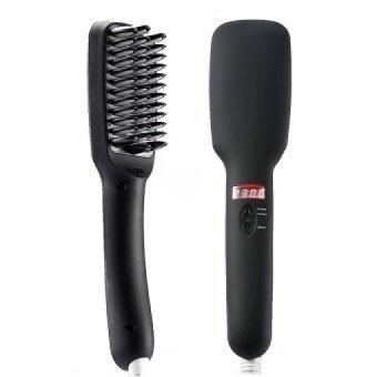 Terbaik Selling 2 Dalam 1 PTC Heater Rambut Straightener dengan Sikat-Internasional