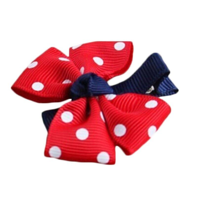 Big Bow Girls Hairclip Dot Flower Red giá rẻ