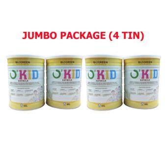 Biogreen O´Kid Oatmilk - 850G X 4 (JUMBO PACK)- Okid Oat Milk- New Packaging