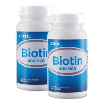 [Bundle Deal] 2 x GNC Biotin 600mcg 120 tablets
