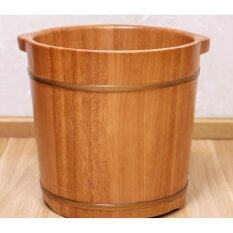 Rubber Wood Foot Soaking Barrel Bucket By Sweet Notes Flowers & Gifts.