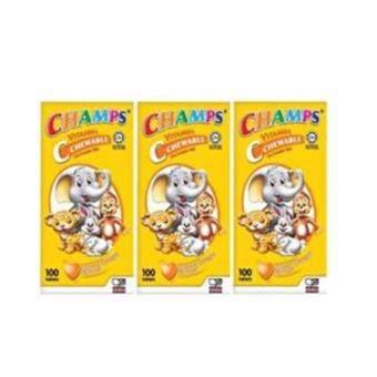 CHAMPS VITAMIN C 100MG (3 BOTTLES)