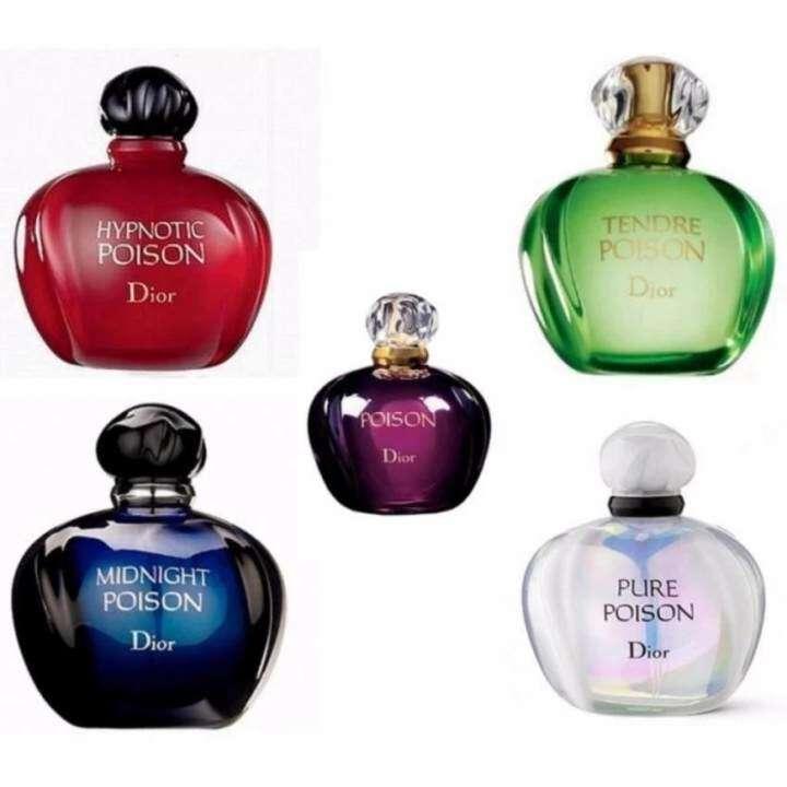 Christian D-i-o-r Perfume Poison Miniature Set of 5pcs x 5ml